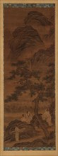 Mountain landscape: three poets and an attendant under a pine tree, Ming dynasty, 16th century. Creator: Unknown.