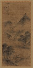 Landscape: mountain peaks and stream, Ming dynasty, 1368-1644. Creator: Unknown.