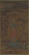 Amitabha Welcoming a Soul to Paradise, Ming dynasty, 16th-17th century. Creator: Unknown.