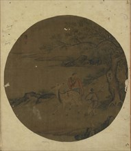 Immortal, deer, and boy, Ming dynasty, 16th-17th century. Creator: Unknown.