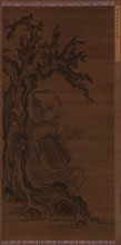 Luohan Seated under a Tree, Ming dynasty, 1368-1644. Creator: Unknown.