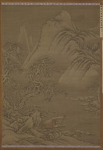 Boating on a Snowy River, Ming dynasty, 16th century. Creator: Unknown.