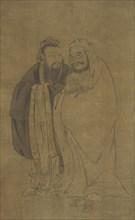 Confucius and Buddha Cradling a Qilin, Ming dynasty, 15th century. Creator: Unknown.