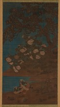 Mandarin ducks and flowers, Ming or Qing dynasty, 17th century. Creator: Unknown.