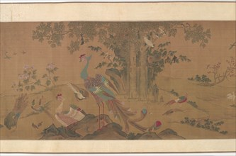 A Hundred Birds Worship the Phoenixes, Qing dynasty, 18th century. Creator: Unknown.