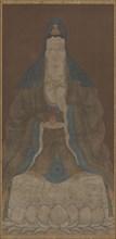Bodhisattva Avalokiteshvara (Guanyin) with vase and willow twig, Ming dynasty, 1368-1644. Creator: Unknown.