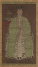 Portrait of a woman in green, Possibly Ming dynasty, (17th century?). Creator: Unknown.