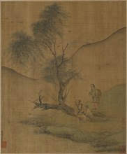 Resting Under Willows, Possibly Ming dynasty, 1368-1644. Creator: Unknown.
