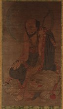 Manjusri and his lion, Ming dynasty, 1368-1644. Creator: Unknown.