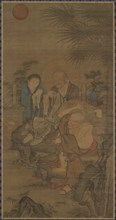 Mending Clothes in the Early Morning Sun, Ming dynasty, 15th-16th century. Creator: Unknown.