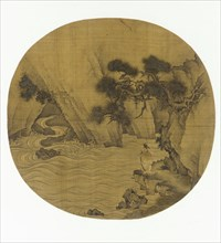 Fishing by a Mountain Torrent, Ming dynasty, 1368-1644. Creator: Unknown.