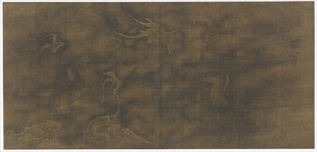 Dragon Among Clouds, Ming dynasty, 1368-1644. Creator: Unknown.