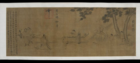 Laozi delivering a copy of the Daodejing, Ming dynasty, 16th-17th century. Creator: Unknown.