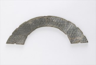 Thin plaque cut in arc of circle, of the type huang, Eastern Zhou dynasty, 4th-3rd century BCE. Creator: Unknown.