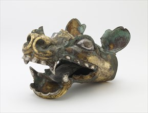 Chariot shaft fitting in the form of a dragon head, Late Eastern Zhou dynasty, ca. 4th century BCE. Creator: Unknown.
