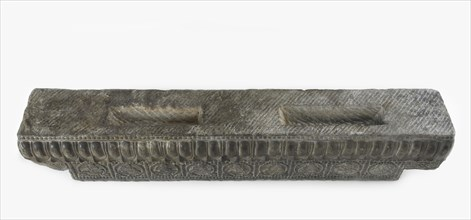 Lateral stretcher from the base of a funerary couch..., Period of Division, Northern Qi dynasty, 550 Creator: Unknown.