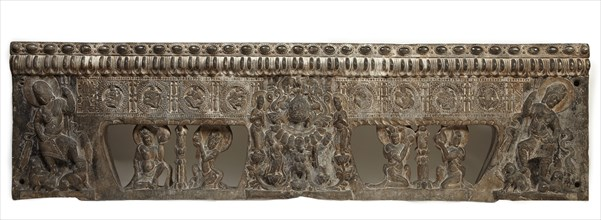 Frontal from the base of a funerary couch..., Period of Division, Northern Qi dynasty, 550-577. Creator: Unknown.