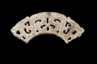 Pendant in the form of a double dragon, Eastern Zhou dynasty, 475-221 B.C.E. Creator: Unknown.