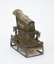 Reliquary in the form of a miniature sarcophagus, Tang dynasty, 8th century. Creator: Unknown.