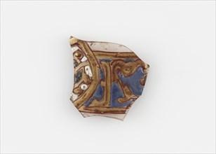 Islamic Glass Fragment, circa 900-1400. Creator: Unknown.