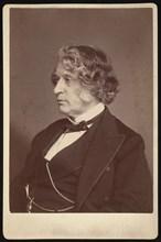 Portrait of Charles Sumner (1811-1874), 1874. Creator: Allen & Rowell.