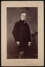 Portrait of George Catlin (1796-1872), Circa 1867. Creator: Bernheim.