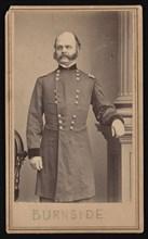 Portrait of Ambrose Everett Burnside (1824-1881), Circa 1860s. Creator: Brady's National Photographic Portrait Galleries.