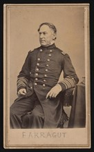 Portrait of David Glasgow Farragut (1801-1870), Before 1870. Creator: Brady's National Photographic Portrait Galleries.