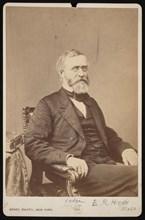 Portrait of Ebenezer Rockwood Hoar (1816-1895), Before 1895. Creator: Brady's National Photographic Portrait Galleries.