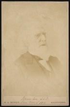 Portrait of Isaac Lea (1792-1886), Before 1886. Creator: Horace L Bundy.