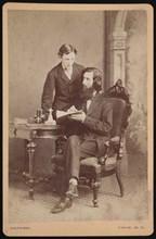 Portrait of Samuel Edward Warren (1831-1909) with student, Before 1877. Creator: James M Capper.