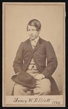 Portrait of Henry Wood Elliott (1846-1930), 1864. Creator: Alexander Gardner.