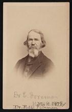 Portrait of Dr. Edward R. Foreman (1808-1885), March 12, 1872. Creator: John Goldin.