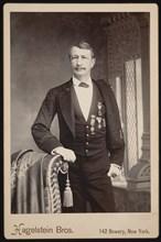 Portrait of J. Watts (John Watts) De Peyster (1821-1907), Before 1896. Creator: Hagelstein Bros.