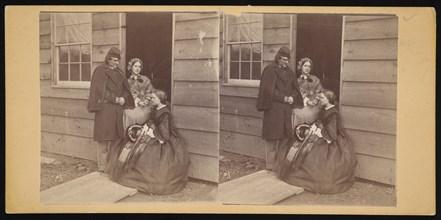 Camp Park Woods - Officers' Quarters, Civil War, 1861-1865. Creator: Titian Ramsay Peale.