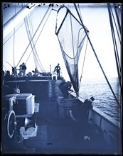 """USFC Steamer """"Albatross"""" Survey of Fishing Banks from Newport to Newfoundland, 1885. Creator: United States National Museum Photographic Laboratory."""