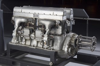 King-Bugatti U-16 Engine, 1919. Creator: Duesenberg Motors Corporation.