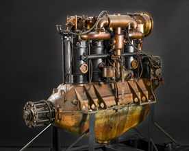 Hall-Scott A-7-A In-line 4 Engine, 1917. Creator: Hall-Scott.