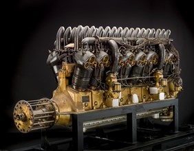 Duesenberg H Direct, V-16 Engine, 1918. Creator: Duesenberg Motors Corporation.