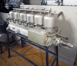 Sturtevant D-6 In-line Engine, In-line 6 Engine, 1912. Creator: Sturtevant Manufacturing Co.