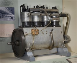 Wright Vertical 4, In-line 4 Engine, 1906. Creator: Wright Company.