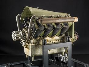 Royal Aircraft Factory RAF-1a, V-8 Engine, ca. 1914. Creator: Royal Aircraft Factory.