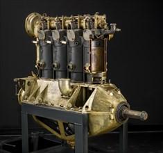 Hall-Scott A-7-A, In-line 4 Engine, Cutaway, ca. World War I. Creator: Hall-Scott.