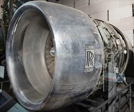 Rolls-Royce RB211-22 Turbofan Engine, Cutaway, 1973. Creator: Rolls-Royce.