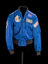Flight jacket belonging to Sally K. Ride, ca. 1983. Creator: Qual-Craft.