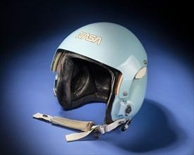 Aviator helmet belonging to Sally K. Ride, ca. 1983. Creator: Sierra Engineering Co..