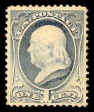 1c Franklin single, 1881. Creator: American Bank Note Company.