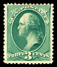 3c Washington single, 1881. Creator: American Bank Note Company.