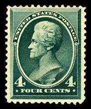 4c Andrew Jackson single, 1883. Creator: American Bank Note Company.