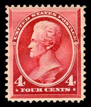 4c Andrew Jackson single, 1888. Creator: American Bank Note Company.